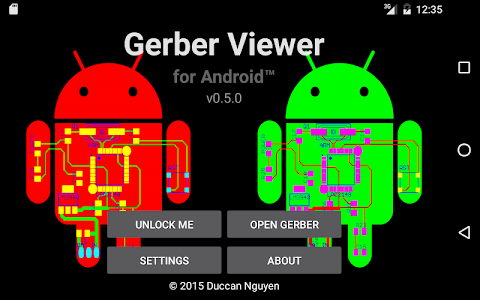 screenshot of Gerber Viewer for Android version 0.5.7