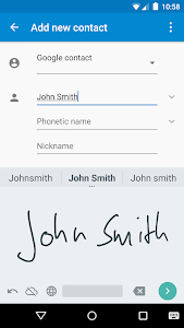 screenshot of Google Handwriting Input version Varies with device