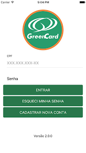 screenshot of Green Card version Varies with device