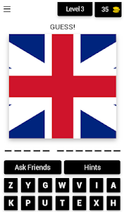 screenshot of Guess The Flag 2019 version 4.1.0z