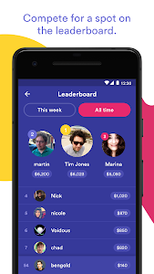 screenshot of HQ Trivia version 1.20.0