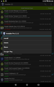 screenshot of Installer - Install APK version Varies with device