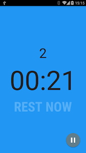 screenshot of Interval Timer version 1.2.5