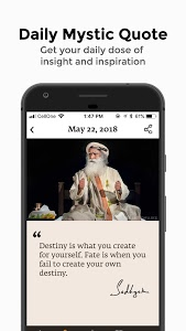 screenshot of Sadhguru - Yoga, Meditation & Spirituality version 3.5.2