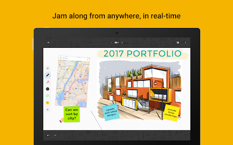 screenshot of Jamboard version Varies with device