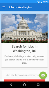 screenshot of Jobs in Washington, DC, USA version 18.1.0