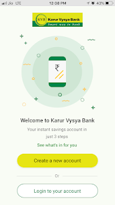 screenshot of KVB - DLite & Mobile Banking version 1.1.3