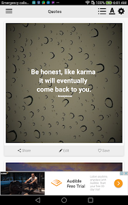 screenshot of Karma Quotes version 4.0.2