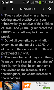 screenshot of King James Bible - KJV Offline Free Holy Bible version 160
