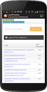 screenshot of LawPavilion version 1.3
