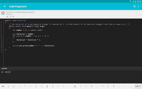 screenshot of Learn Java version 3.7