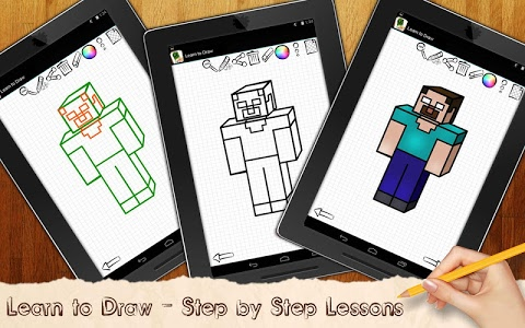 screenshot of Learn to Draw Minecraft version 3.02