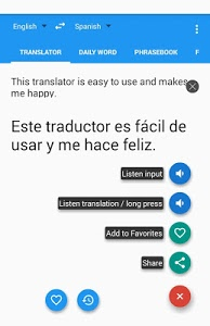 screenshot of Learn with Talking Translator version 7.6.1