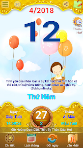 screenshot of Lich Van Nien - Lịch VN 2019 version 10.9