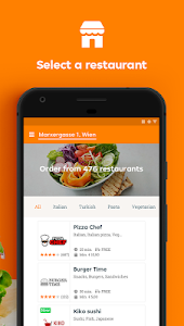 screenshot of Lieferservice.at - Order food version Varies with device