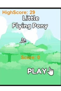 screenshot of Little Flying Pony version 1.0.0