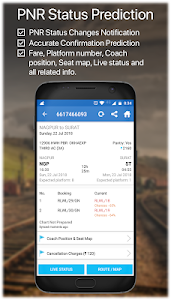screenshot of Live Train IRCTC PNR Status & Indian Rail Info version 1.6.3