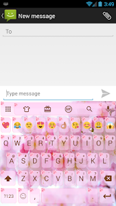 screenshot of Love Cherry Valentine Emoji Keyboard Theme version 14.0
