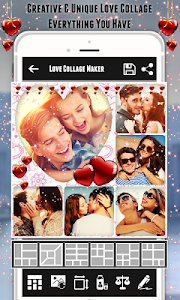screenshot of Love Collage Photo Editor : Photo Frame & Locket version 1.17