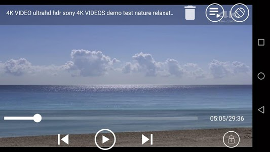 screenshot of MX Player HD Video Player version 1.8