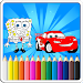 Download Mcqueen And SpongBob Coloring book 1.0 APK