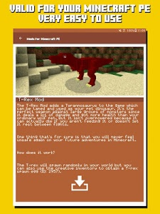 screenshot of Mods for Minecraft PE version 2.14