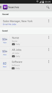 screenshot of Monster Job Search version 2.11.0