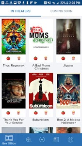 screenshot of Movies by Flixster, with Rotten Tomatoes version 9.1.5
