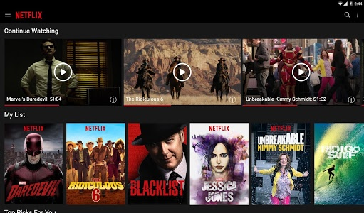 screenshot of Netflix version Varies with device