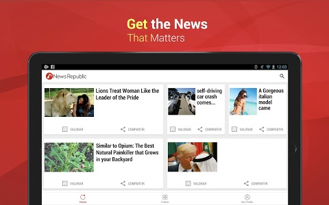 screenshot of News Republic: Breaking News version Varies with device