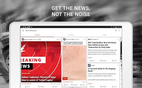screenshot of News Republic – Breaking news version Varies with device