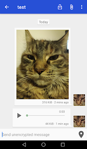 screenshot of Onion Messenger and Instant Chat with encryption version 2.0.4+fcr