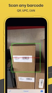 screenshot of Orca Scan - Barcode Scanner to Excel Spreadsheet version 2.5.1