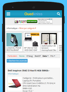 screenshot of Ouedkniss version 1.5.3