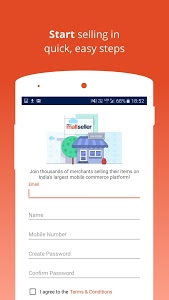 screenshot of Paytm Mall Store Manager version 2.7.2