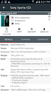 screenshot of Phone Arena - Gsm Arena - Mobile and cellular news version 3.3.1