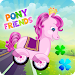Pony Friends \ud83e\udd84 - Beepzz racing game for kids