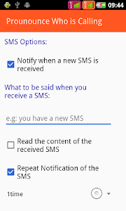 screenshot of Announce Who Is Calling version 3.4