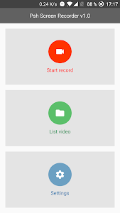 screenshot of Psh Screen Recorder version 2.0