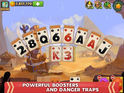 screenshot of Solitaire - Island Adventure : Free Card Games version 1.9.7