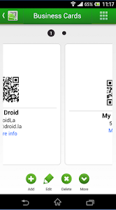 screenshot of QR Droid Private™ version 6.8