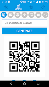 screenshot of QR and Barcode Scanner PRO version 1.2.9