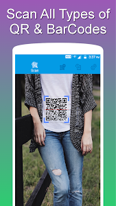 screenshot of QR and Barcode Scanner PRO version 1.1.3