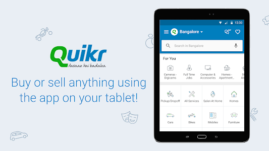 screenshot of Quikr – Search Jobs, Mobiles, Cars, Home Services version Varies with device