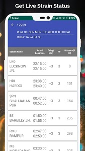 screenshot of Railway PNR Check version 4.3