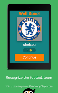 screenshot of Recognize the football team version 4.1.0z