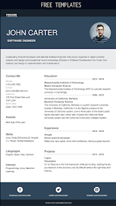 screenshot of Resumaker: Resume builder app free CV maker PDF version 1.0.2