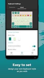screenshot of Rockey Keyboard -Transparent keyboard for WhatsApp version 0.22.5