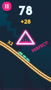 screenshot of Rollercoaster Dash - Rush and Jump the Train version 1.3.2