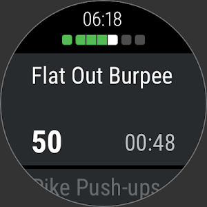 screenshot of Runtastic Results Strength Training & Bodyweight version Varies with device